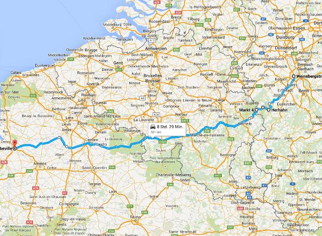 Richtung Normandie