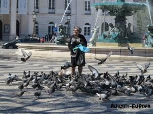 Die Tauben Lady
