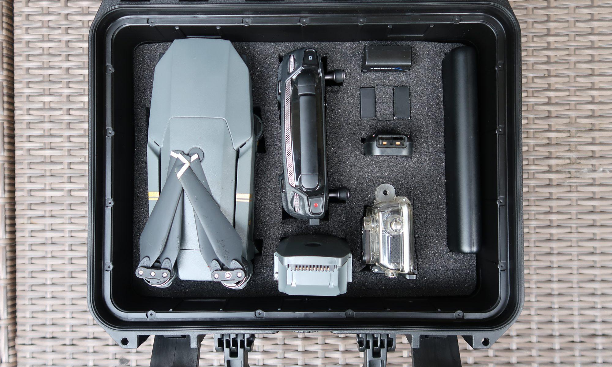 Koffer mit Drohne